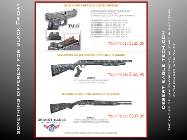 Desert Eagle Technologies & Black Friday